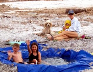 enjoying a Florida hot tub