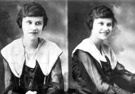 granny young woman copy
