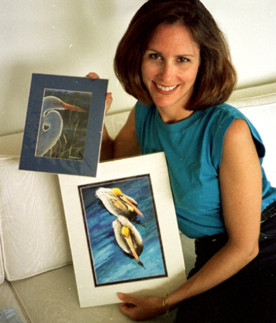 trish with aziza paintings copy