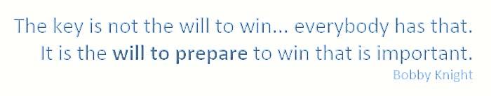 will to prepare